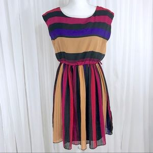 Truth NYC striped pleated dress